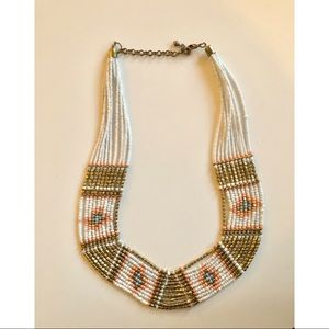 Women's beaded statement necklace